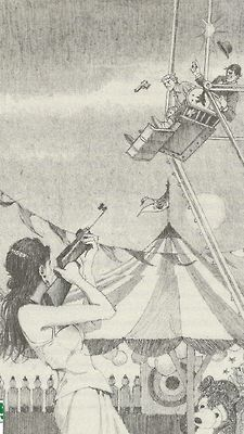 Illustration by artist Robert McGinnis to fresh novel by Stephen King, Joyland, 2013
