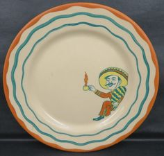 """Desert Ware (Eaton's) plate (7.5"""" dia.) by Wallace China, c. 1940s-50s."""
