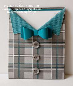 Stampin' Up! UK Order Online 24/7 - Julie Kettlewell: Dapper Thinlits Treat Bag Pocket Card