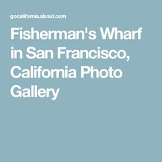 Fisherman's Wharf in San Francisco, California Photo Gallery
