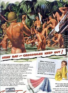 canon towel ad c.1940's