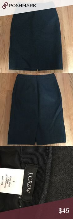 J Crew wool pencil skirt 0 Worn a few times. Excellent condition without holes or stains. J. Crew Skirts