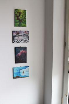 Landscape Set Acrylic painting on canvas, 13x18cm ©Billy Acrylic Painting Canvas, Landscape Paintings, Original Artwork, Photo Wall, The Originals, Storage, Frame, Etsy, Furniture