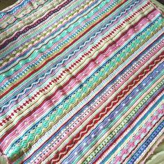 As we go stripey blanket: FREE crochet pattern