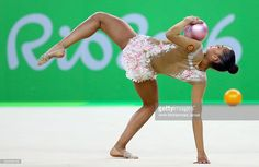 Margarita Mamun of Russia competes during the Women's Individual All-Around Rhythmic Gymnastics Final on Day 15 of the Rio 2016 Olympic Games at the Rio Olympic Arena on August 20, 2016 in Rio de Janeiro, Brazil.