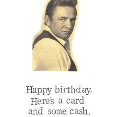 Johnny Cash Birthday Card | Etsy  $4.00