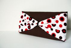 Bow Clutch PurseRed bow Small purse by SzidoniaCollection on Etsy, $17.99