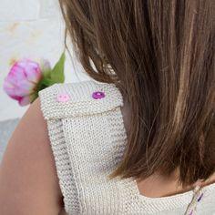 Resultado final: espalda vestido ganchillo con tela patchwork