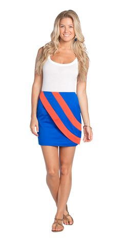 Gameday Berkeley skirt. Can't wait to sport this at a tailgate. Available August 15th.