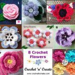 8 Crochet Flower Motifs