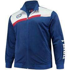 bfe7d7d39 Majestic Philadelphia 76ers Royal White Tricot Full-Zip Track Jacket - NBA