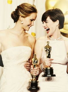 """I bet Jennifer Lawrence is thinking the same thing I am thinking about Anne Hathaway, """"No one likes you."""""""