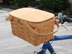 Peterboro Basket Company - Peterboro Picnic-Time/Tote Bicycle Basket with Lid, $55.00 (http://www.peterborobasket.com/peterboro-picnic-time-tote-bicycle-basket-with-lid/)