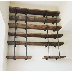 Loon Peak Andersonville Pine Solid Wood Tiered Shelf Size: H x W x D Solid Wood Shelves, Wood Floating Shelves, Wood Wall Shelf, Pipe Shelves, Wall Shelves, Reclaimed Wood Shelves, Salvaged Wood, Wooden Shelves, Wall Décor