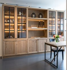 Home Library Design, Home Room Design, Home Design Decor, Home Interior Design, Living Room Designs, House Design, Pantry Design, Kitchen Cabinet Design, Kitchen Interior