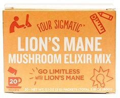 Lion's Mane Mushroom Elixir by Four Sigmatic, Organic Lion's Mane Mushroom Powder with Rhodiola & Rose Hips, Immune & Memory Support, Paleo, Pack of 20 Mushroom Tea, Increase Memory, Lion Mane, Improve Concentration, Healthy Brain, Best Memories, Active Ingredient, Stevia, How To Fall Asleep