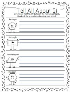Here you will find tools for 3.G.A.1, 3.G.A.2 Third Grade Common Core Geometry Standards. This FREEBIE is from my 3rd Grade Math Unit. It addresses 100% of the 3rd Grade Common Core Math Standards. Quick Assessments for: 3.OA.A.1, 3.OA.A.2, 3.OA.A.3, 3.OA.A.4, 3.OA.B.5, 3.OA.B.6, 3.OA.C.7, 3.OA.D.8, 3.OA.D9, 3.NBT.A.1, 3.NBT.A.2, 3.NBT.A.3, 3.NF.A.1, 3.NF.A.2, 3.NF.A.3, 3.MD.A.1, 3.MD.A.2, 3.MD.B.3, 3.MD.B.4, 3.MD.C.5, 3.MD.C.6, 3.MD.C.7, 3.MD.D.8 Can be used for Standards Based Grading