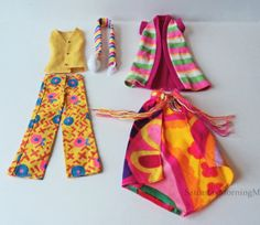 "Mod Barbie Francie Doll Clothes Fashion Mattel 1970s ""Sunny Slacks"" ""Summer Number"" Vintage"