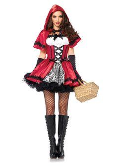 Leg Avenue 2 Piece Gothic Red Riding Hood Costume, Women's, Size: Medium