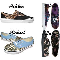A fashion look from March 2014 featuring vans sneakers. Browse and shop related looks. 5sos Inspired Outfits, 5sos Outfits, Band Outfits, 5sos Merchandise, 5sos Preferences, 1d And 5sos, 5 Seconds Of Summer, Vans Sneakers, Go Shopping