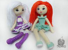 Вязаные куклы крючком амигуруми