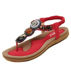 837f156792d0a Grand Womens Flat Shoes PU Leather Flip-flop Thongs Sandals Grand http