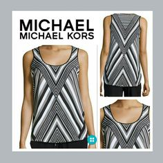 24HRSALE Michael Kors Chevron Nwt @nordstrom retails for $130 black and white with studs and size 4 MICHAEL Michael Kors Tops Tank Tops