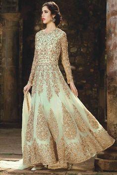 Cream Color Beautiful Embroidery Work Ethnic Stylish Indian Women Fashion Celebrity Outfit Festive Wear Heavy Traditional Designer Gown Style Suit #anarkalisuit #bela #fashion #monark #partyweardress #designercollection #embroidered #fashion #style #traditionalwear #indianbride #bridalwear #indianbrideoutfits #designerdresses #floorlength #salwarsuit #salwarkameez #monarkcollection #heavydress #fancyfabrics #weddingseason #usa #france #indonesia #uk #canada
