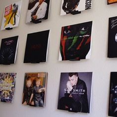 how to display vinyl records wall art ; Record Wall Art, Vinyl Record Display, Framed Records, Vinyl Wall Decals, Vinyl Records Decor, Wall Stickers, Vinyl Storage, Record Storage, Record Shelf