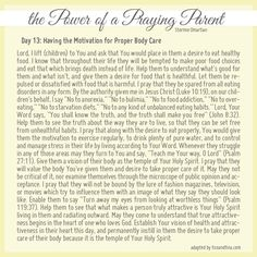 Prayer for having the motivation for proper eating, stress management & body care - Power of a Praying Parent
