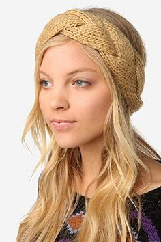 842a9223d4b braided cable knit ear warmer--I think I could make this.