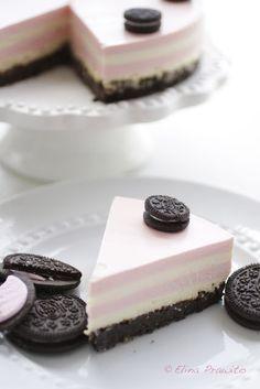 Oh my! | Oreo & Strawberry-Vanilla layers Cheesecake