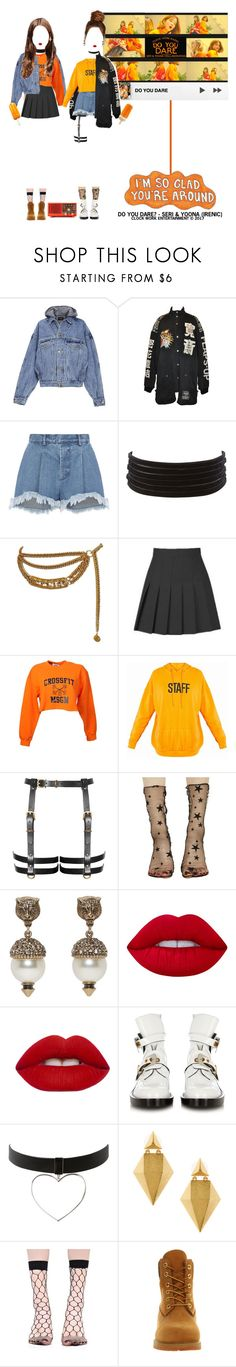 """""""«DO YOU DARE - SERI (ROCKIT) & YOONA (IRENIC)»"""" by cw-entertainment ❤ liked on Polyvore featuring Fear of God, Ksenia Schnaider, Charlotte Russe, Chanel, MSGM, Stance, Gucci, Lime Crime, Balenciaga and Stephanie Kantis"""
