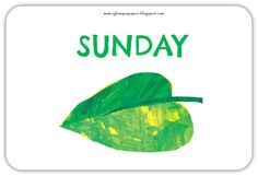 The Very Hungry Caterpillar days of the week free flashcards Hungry Caterpillar Party, Alphabet Worksheets, Book Study, Life Cycles, Life Skills, Blog, English, Log Projects, Insects