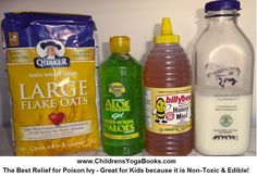 http://childrensyogabooks.com/blog/relief-from-poison-ivy/  What To Do When Your Child Gets Poison Ivy - The Best Relief is also Edible!
