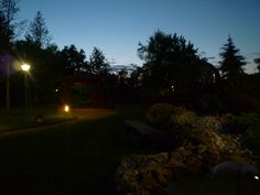 Il giardino di sera e il tramonto all'orizzonte!!!