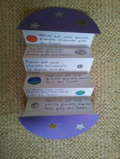 foldable for presenting constellations