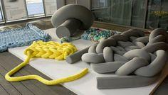 """PHAT KNITS,"" furniture by Dutch designer Bauke Knottnerus."