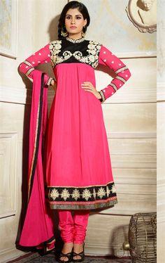 Picture of Elegant Pink Designer Churidar Kameez