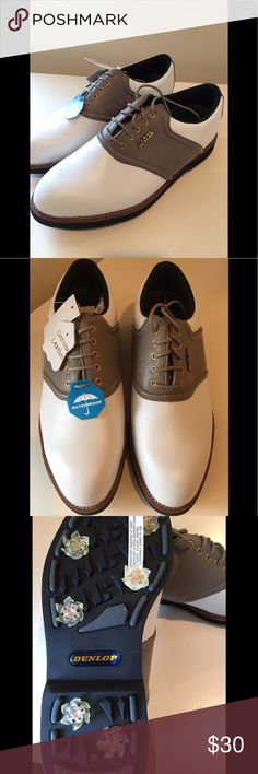 NWT Men's Dunlop Golf Shoes Brown new, leather golf shoes. Comes with box. Dunlop Shoes Athletic Shoes