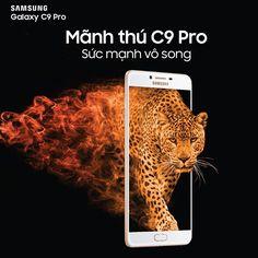 """Với vi xử lý siêu tốc, màn hình Super Amoled cực khủng 6 inch, Mãnh thú Galaxy C9 Pro là siêu phẩm dành cho những tín đồ công nghệ đang tìm một thiết bị xứng tầm.  Cùng chờ đợi ngày """"mãnh thú"""" sẽ tung hoành tại thị trường Việt Nam! #GalaxyC9pro #Thebeast #6GbRam #Comingsoon"""