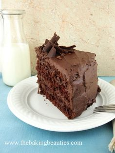 Gluten-free Devil's Food Cake with Mocha Buttercream from Faithfully Gluten Free