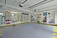 An organized, functional two car garage