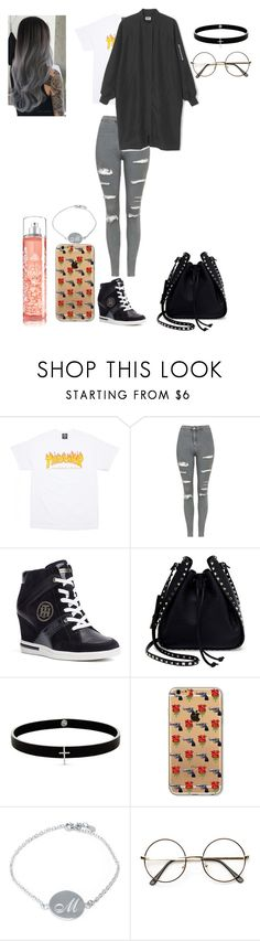 """""""Writing music is my Passion"""" by wallflowerofdesires14 ❤ liked on Polyvore featuring Topshop, Tommy Hilfiger, Valentino, Lynn Ban, Belk Silverworks, Shades of Grey by Micah Cohen and ZeroUV"""