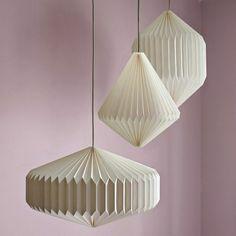 diy projekte aus pappkarton weiß origami lampenschirm basteln