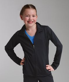 Buy the Charles River Apparel 4186 Girls' Fitness Jacket from SweatshirtStation.com, on sale now.  #CharlesRiverApparel #girlsclothing #fitnessjacket