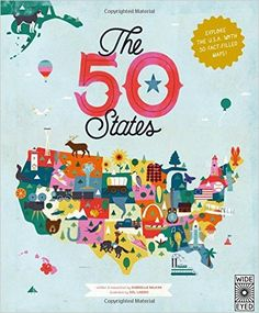 The 50 States by Gabrielle Balkan. An awesome fact-filled atlas jam packed with interesting information and detailed illustrations.