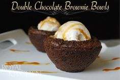 Double Chocolate Brownie Bowls…plus a GIVEAWAY!!