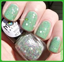 Mod Lacquer Verde Montana over e.l.f. Mint Cream