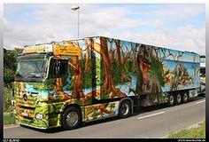 """Mercedes Benz Actros """"Herpa Truck 5"""" (uslovig) Tags: world 2 history truck germany deutschland mercedes benz 5 lorry camion mp trailer dinosaurs airbrush lastwagen dinosaurier lkw herpa actros dietenhofen sattelzug weltgeschichte"""